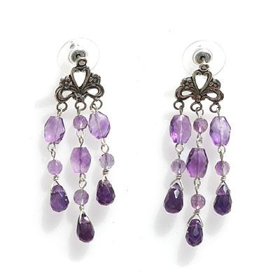 Amethyst chandelier earrings multi shaped amethyst mini amethyst chandelier earrings mozeypictures Gallery